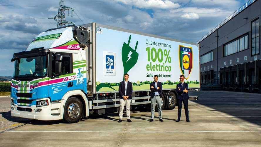 Scania, camion elettrico in fornitura a Lidl