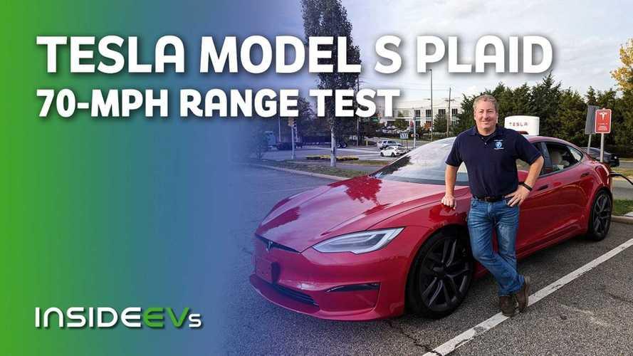 Tesla Model S Plaid 70-MPH Highway Range Test