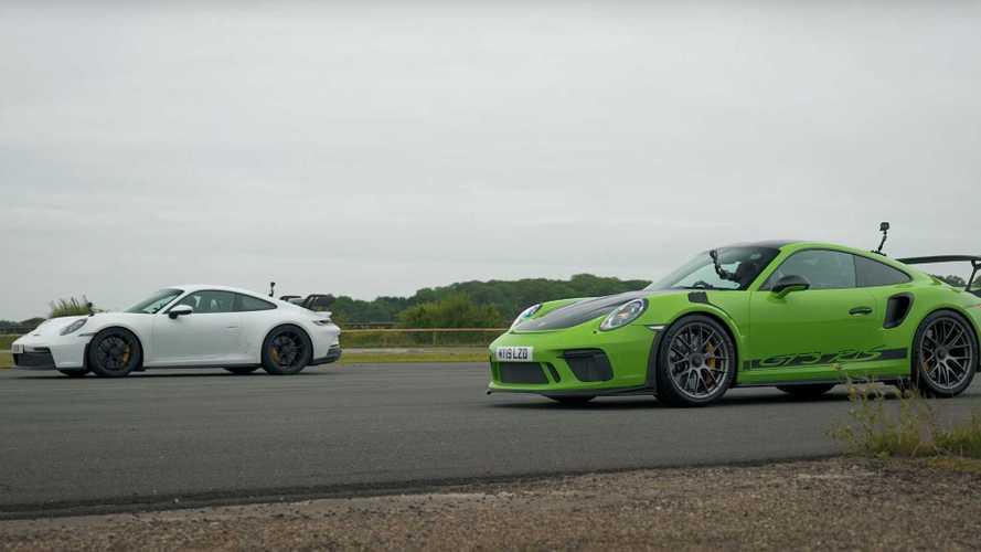Porsche 911 GT3 drag races GT3 RS in new vs 'old' duel