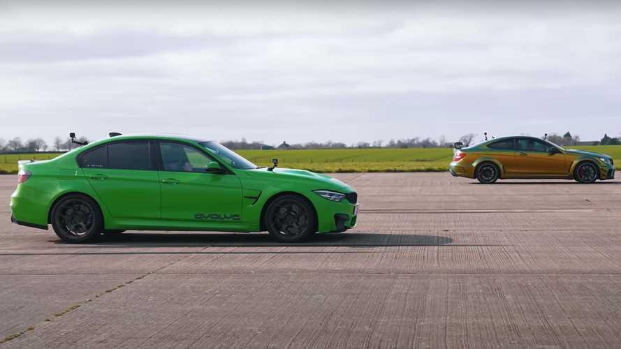 BMW M3 Drag Races AMG C63 Black Series In 1,450-Horsepower Duel