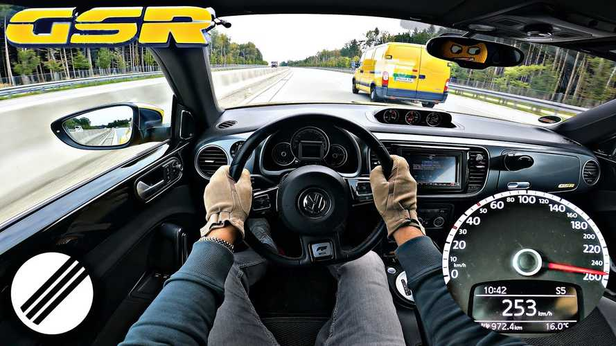 Rare VW Beetle GSR goes flat out on the Autobahn for top speed run