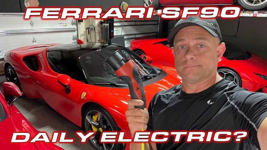 VIDÉO - La Ferrari SF90 Stradale en mode 100% électrique