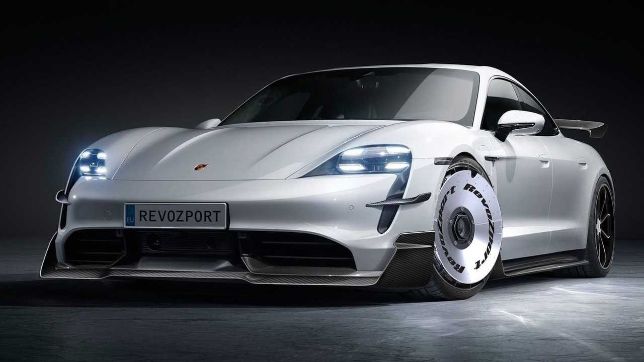 Porsche Taycan с боди-китом от RevoZport