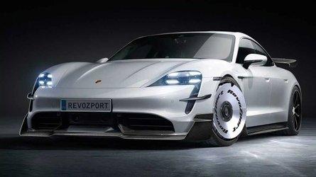 These Porsche Taycan aero kits from RevoZport make the EV look brilliant