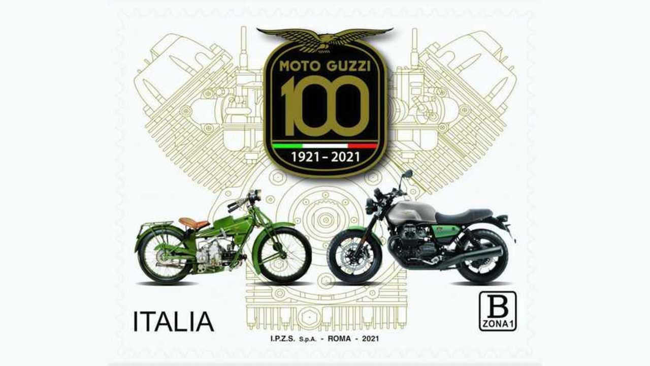 Moto Guzzi Poste Italiane Stamp 2021