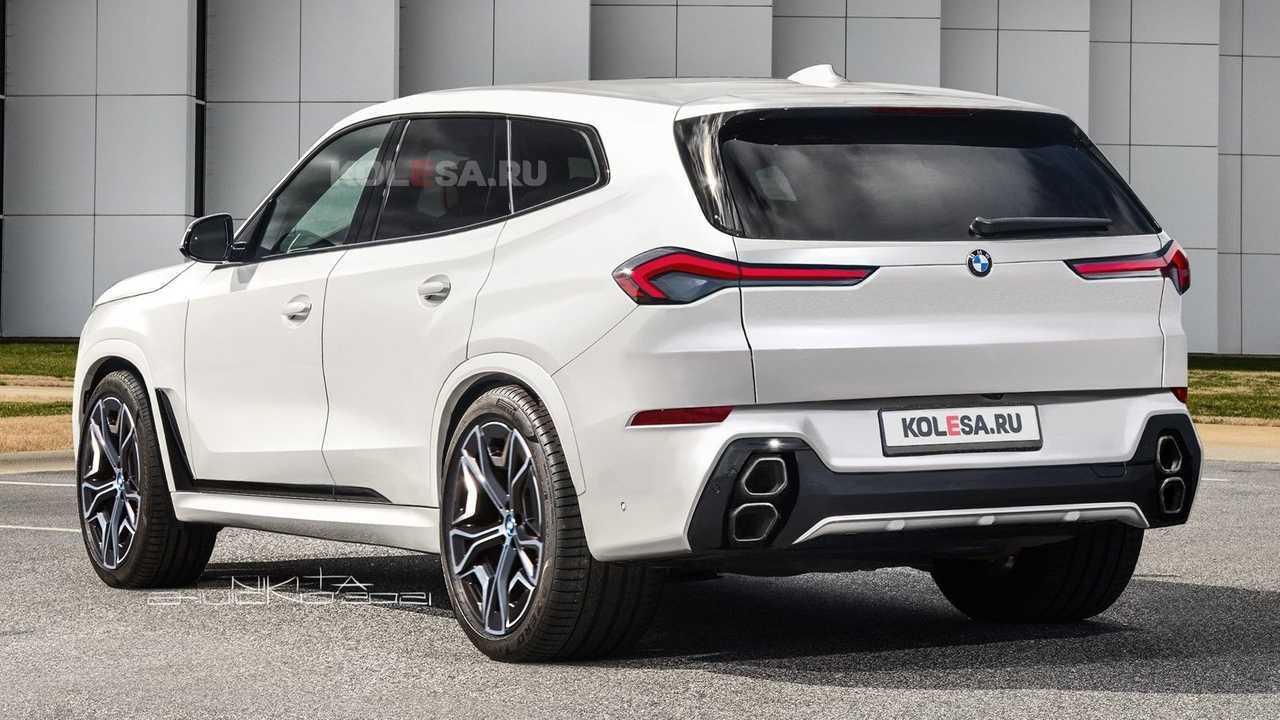 Representación del BMW X8 de 2023 basada en la última foto espía