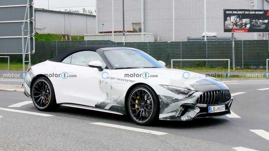 Mercedes-AMG SL Serisi üretime hazır gövdesiyle yakalandı