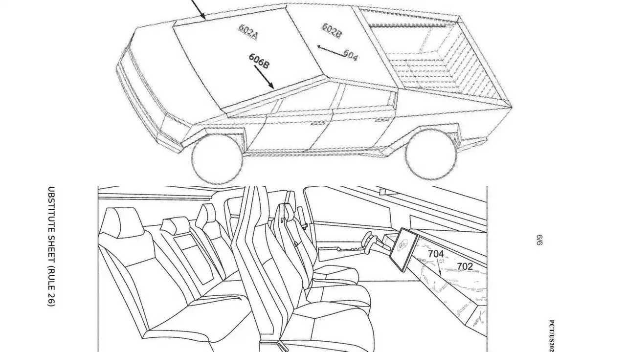 Tesla Cybertruck Glass-Forming Patent Drawings