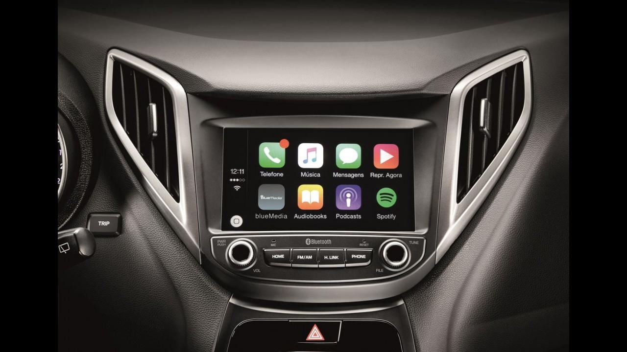 Contra-ataque: Hyundai equipa linha HB20 com Apple CarPlay