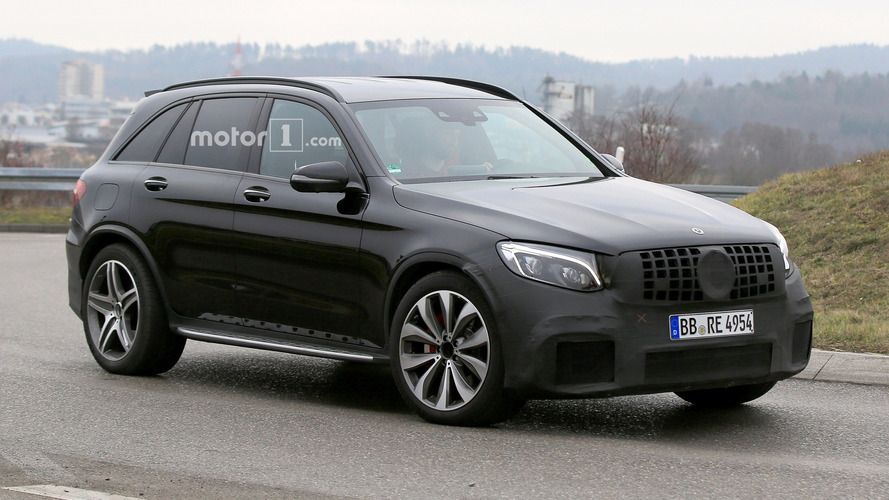 Best spy shots yet with the V8-powered Mercedes-AMG GLC 63