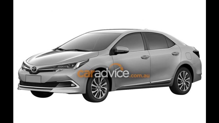 Toyota Corolla reestilizado aparece em imagens de patente