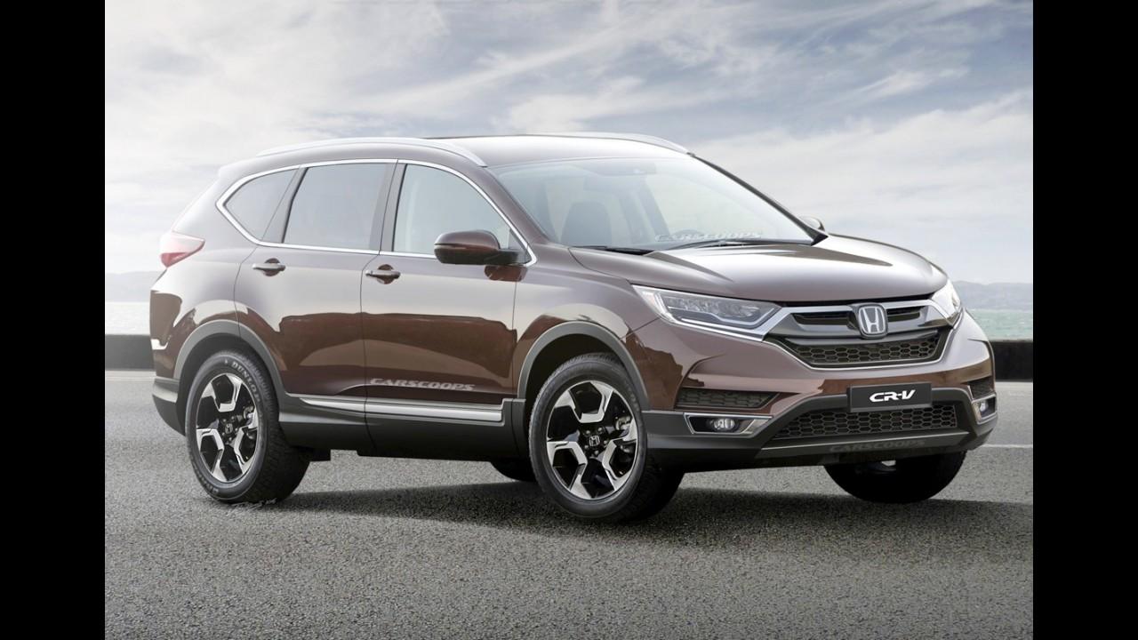 Novo Honda CR-V estreia em 2017 com motores 2.4 aspirado e 1.5 Turbo