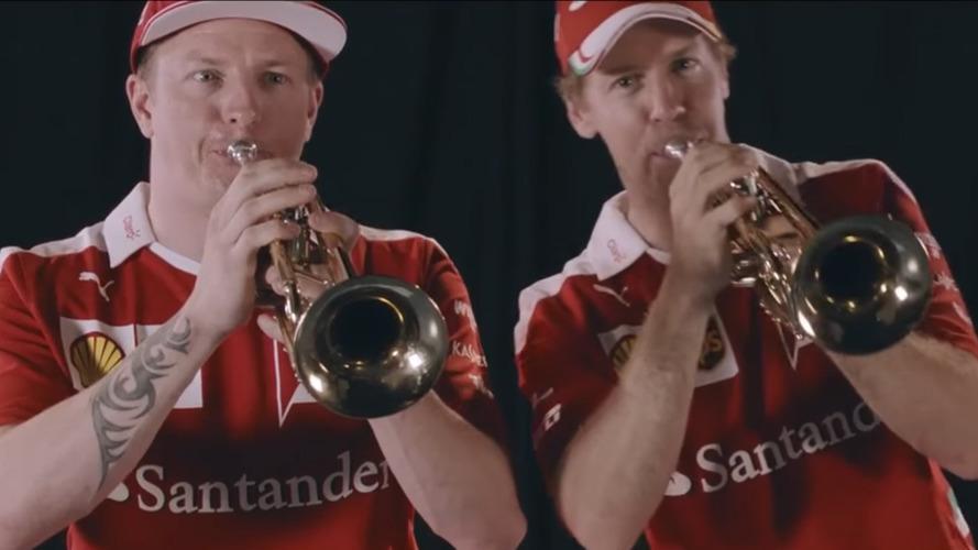 Formule 1 – Quand Räikkönen et Vettel font de la trompette au Mexique