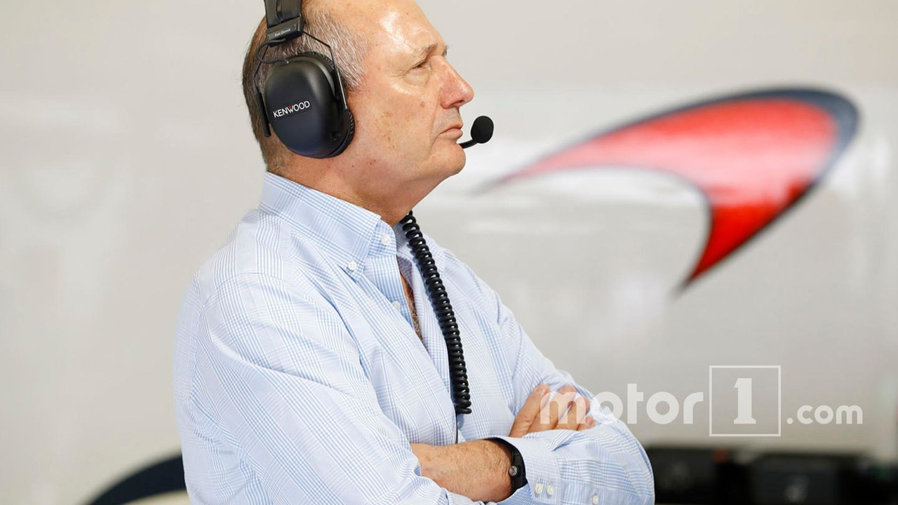 Ron Dennis, McLaren Executive Chairman in the garage