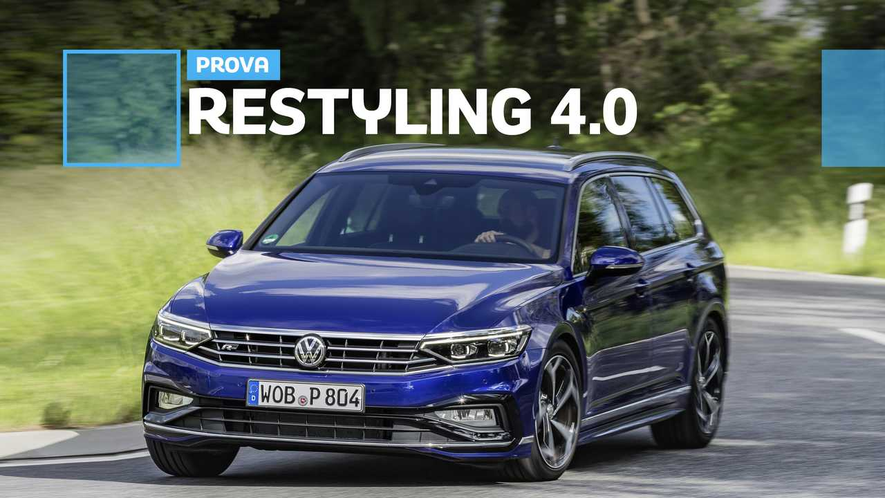 Copertina Volkswagen Passat restyling prova