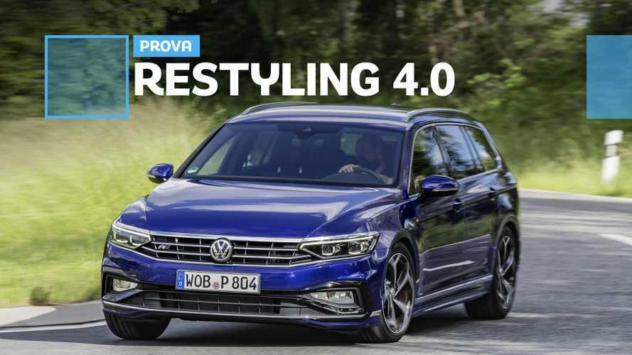 Volkswagen Passat restyling: fluida, rilassata e anche ibrida