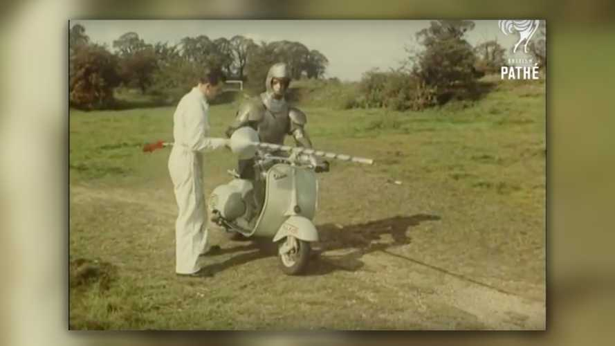 Real Manly Men Impress Their Girlfriends By Jousting… On Vespas