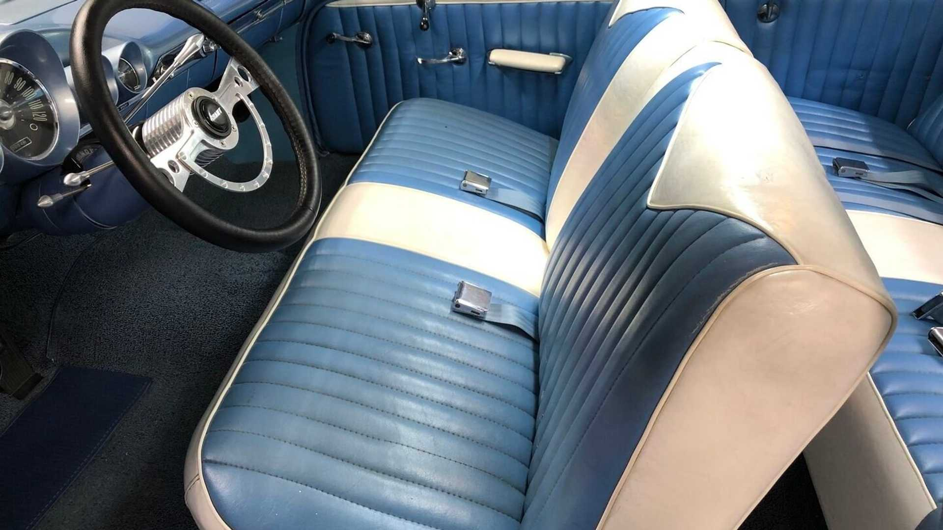 """[""""Cool Off Summer With A Frost Blue 1959 Chevrolet Bel Air""""]"""