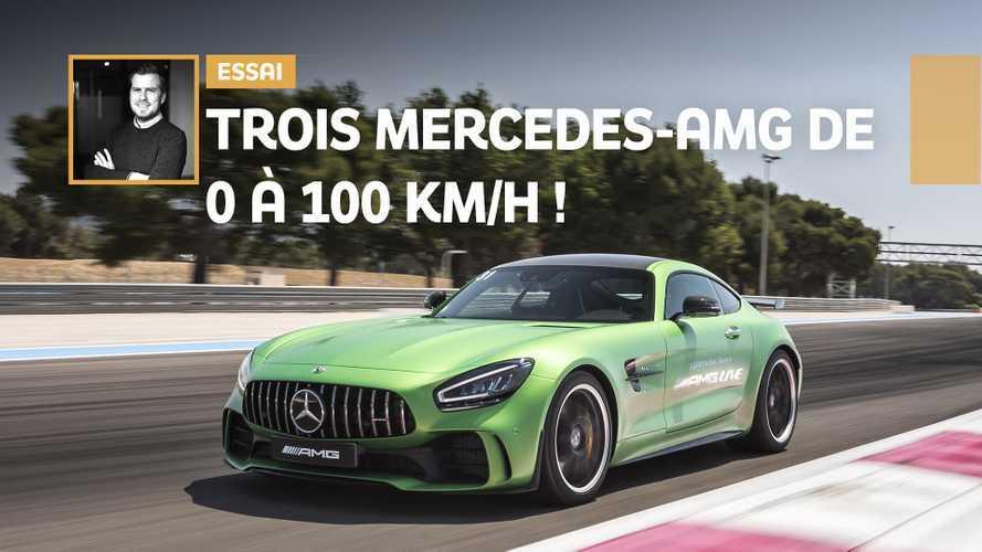 VIDÉO - Trois Mercedes-AMG de 0 à 100 km/h !