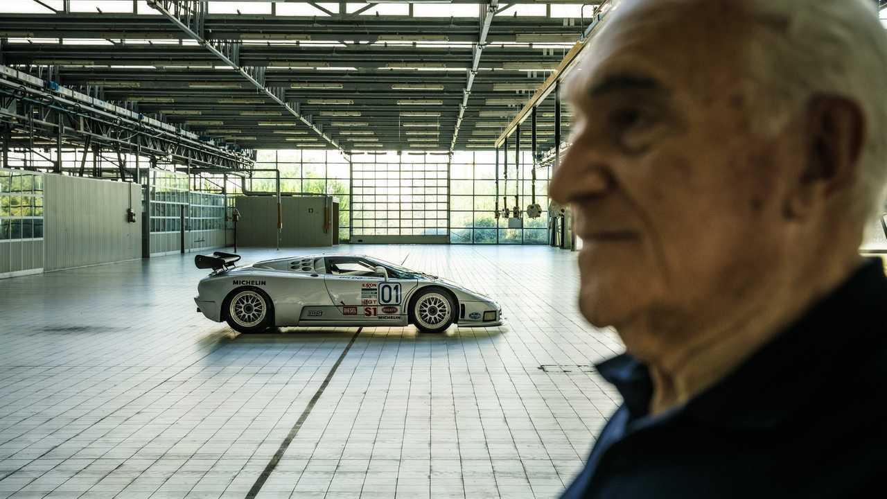 Bugatti EB110 y Romano Artioli