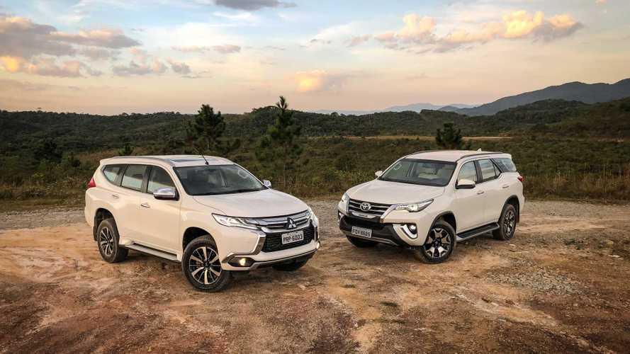 Comparativo: Mitsubishi Pajero Sport x Toyota Hilux SW4 - Do pó viestes...