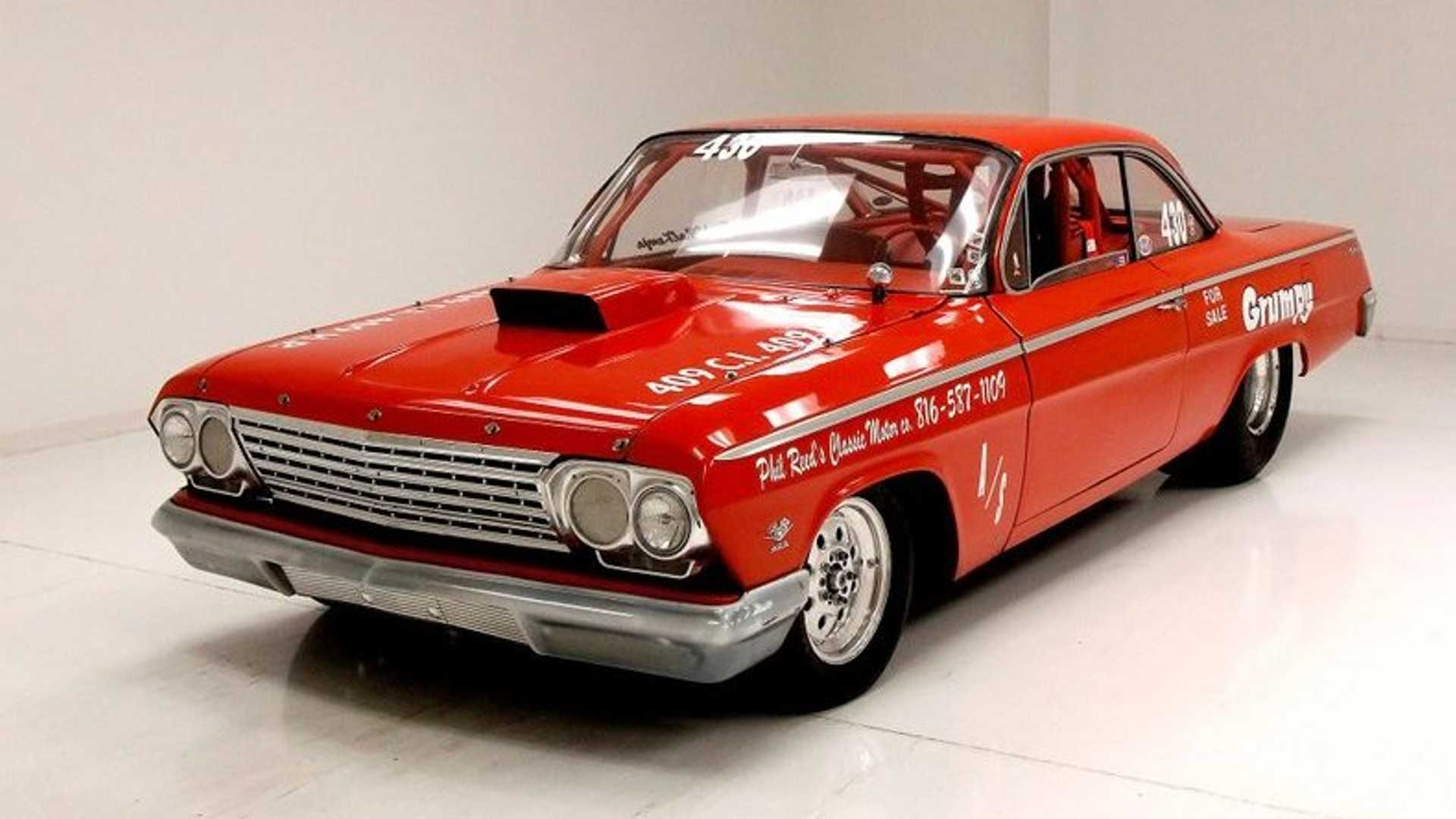 """[""""1962 Chevrolet Bel Air Was Born For Drag Racing""""]"""