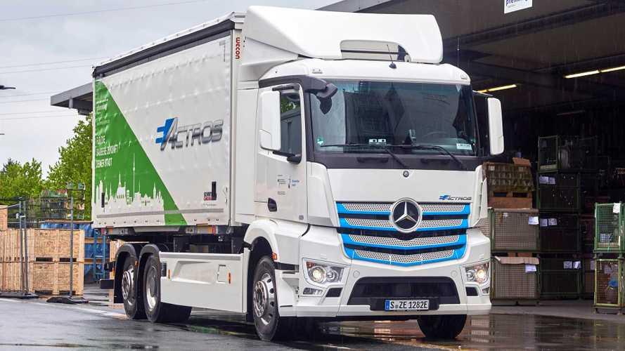 Mercedes eActros in servizio a Mannheim