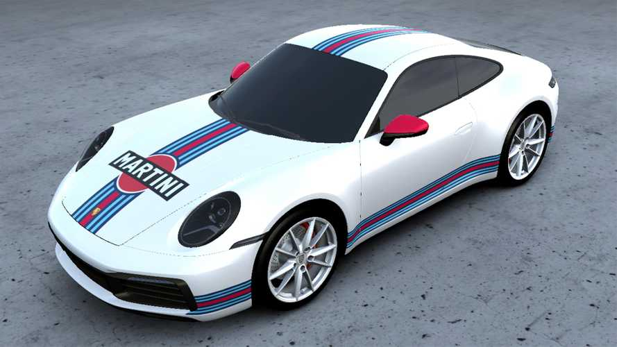 New Porsche Service Lets You Wrap Your Car In Martini Racing Livery