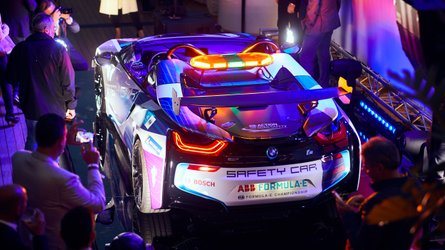 BMW Introduces New i8 Roadster Safety Car For Formula E