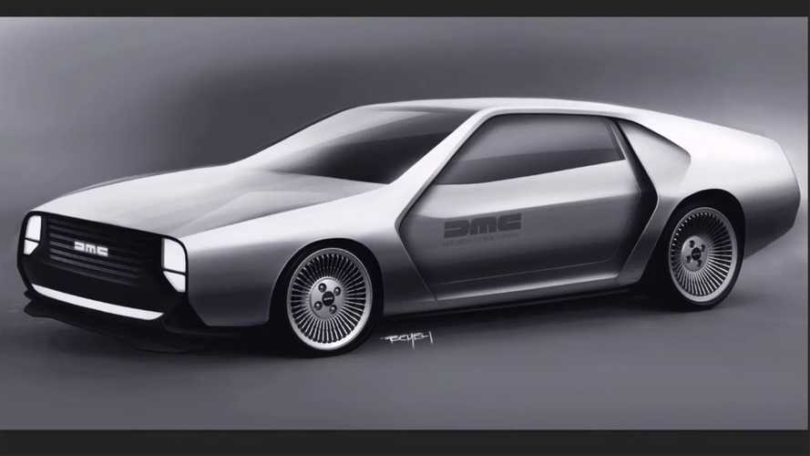 Modernised DeLorean rendering goes back to the future