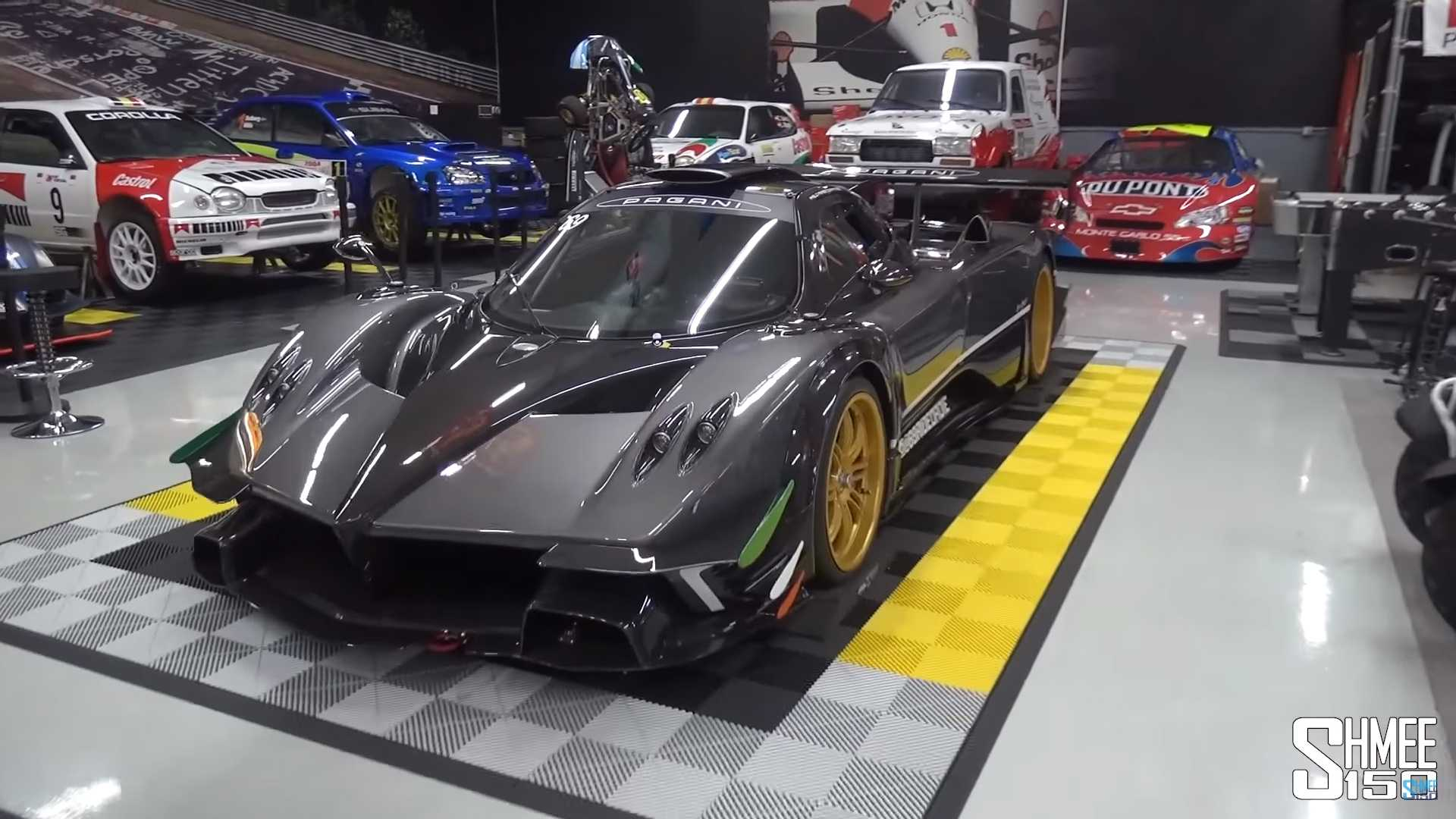 This Epic Car Collection Includes A Pagani Zonda R In A Living Room