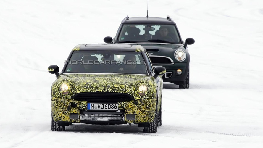 2015 MINI Clubman spied testing together with current version
