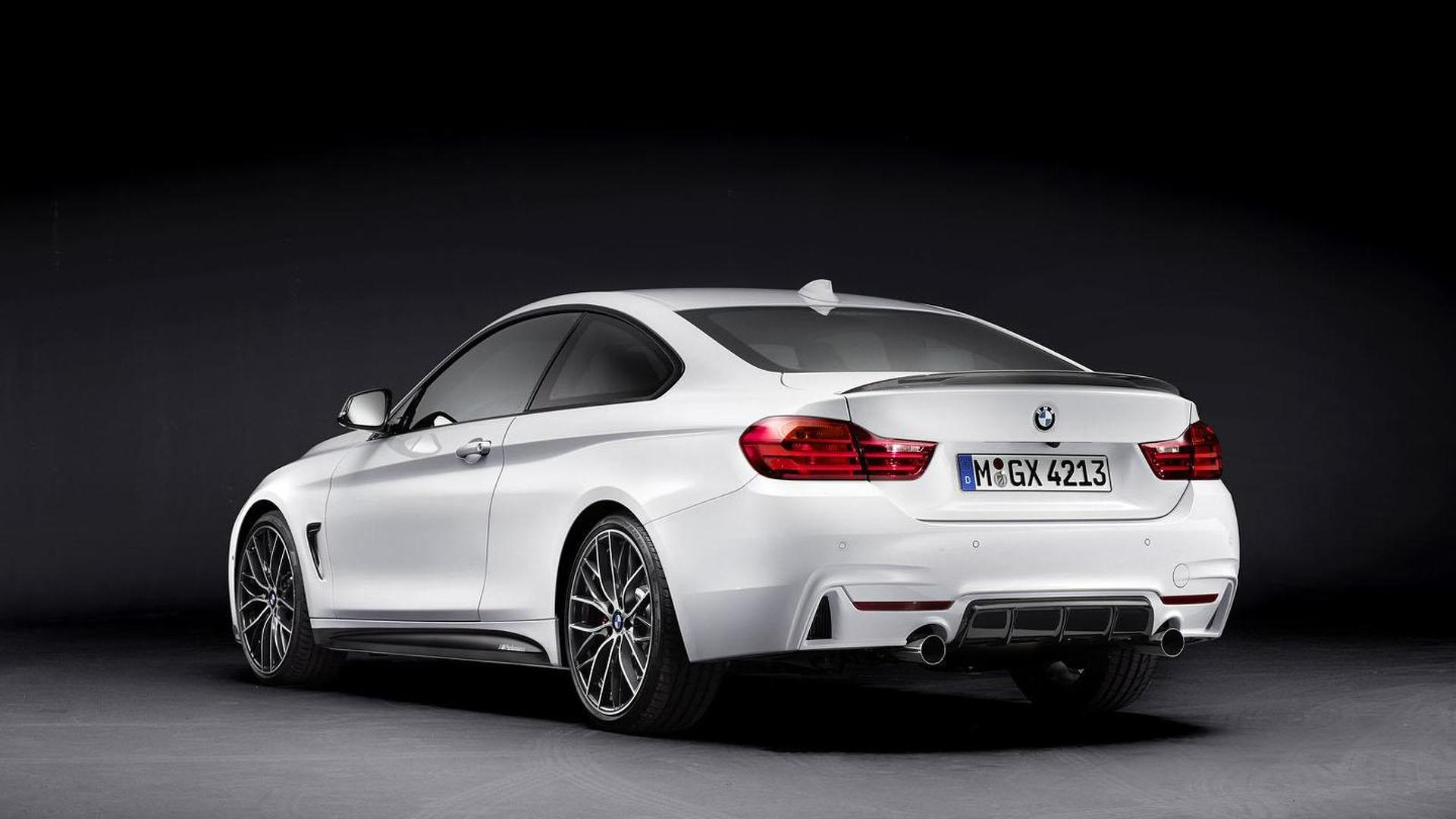 bmw 4 series coupe with m performance parts headed to frankfurt