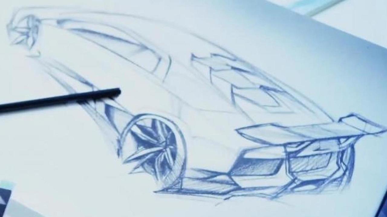 Lamborghini gallardo successor teaser sketch