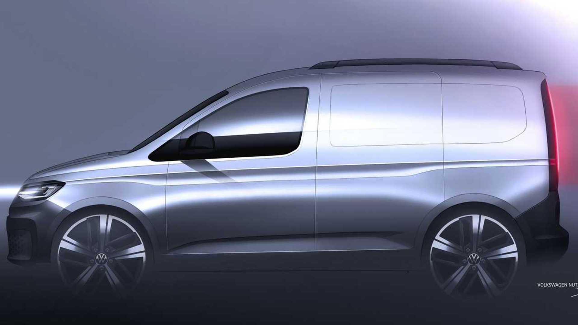 2020 Volkswagen Caddy Teaser Shows Off Stylish Little Van