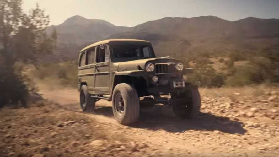 Watch A 1958 Willys Jeep Station Wagon Play In The Dirt