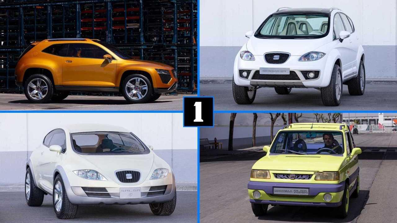 Seats SUVs und SUV-Designstudien (Collage)
