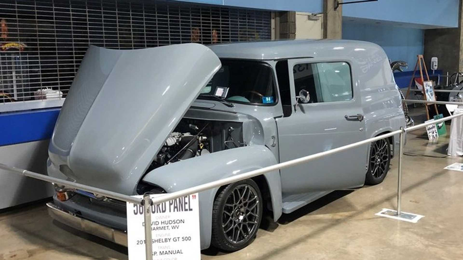 """[""""Haul More Than The Mail In A 1956 Ford F100 Panel Delivery Truck""""]"""