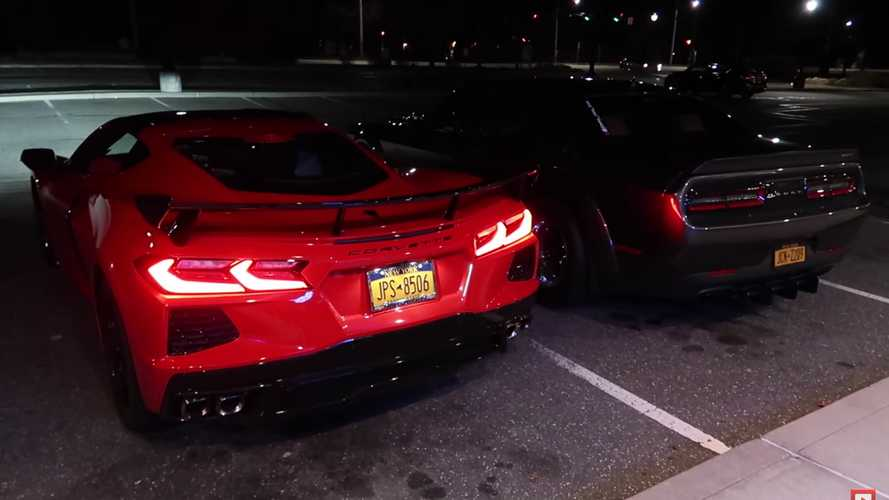 Chevy Corvette C8 Dodge Challenger Hellcat Exhaust Sound Video