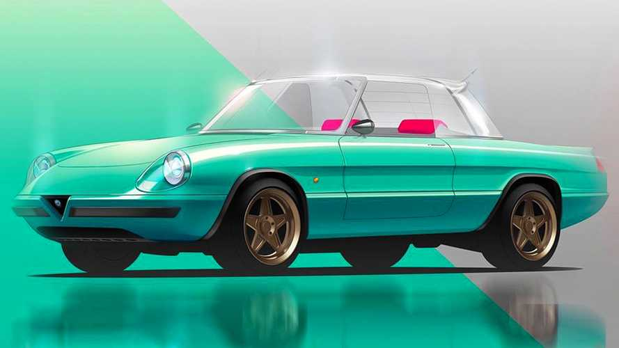 Alfa Romeo Duetto elettrico, le immagini del progetto di Garage Italia