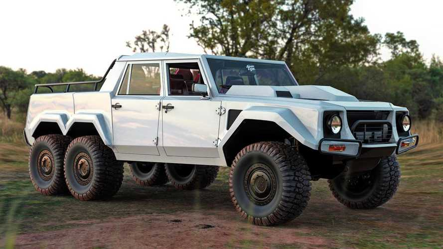 Lamborghini LM002 6x6 Rendered As Rugged Off-Road People Hauler