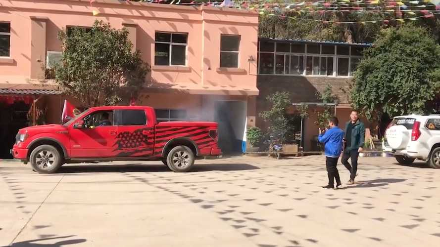 Ford F-150 And Jeep Wrangler Play Tug-Of-War With Chinese SUV