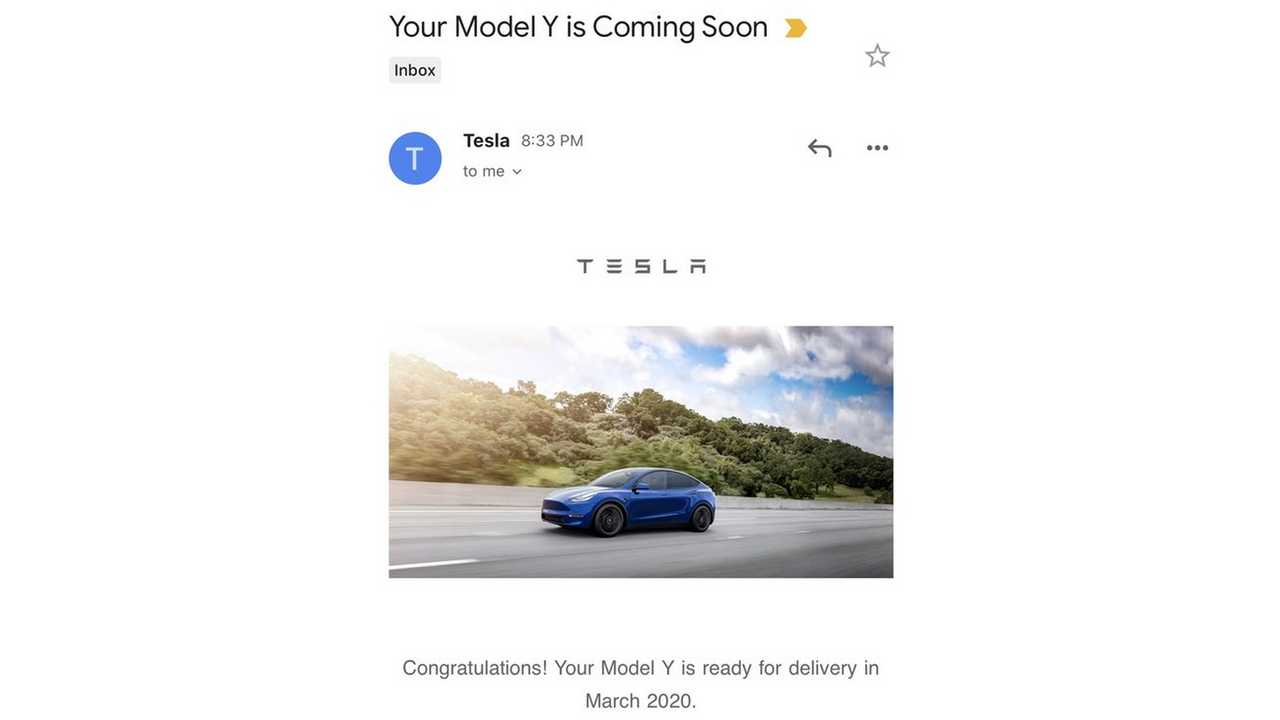 It's Time: Tesla Confirms Model Y Deliveries Will Start In March