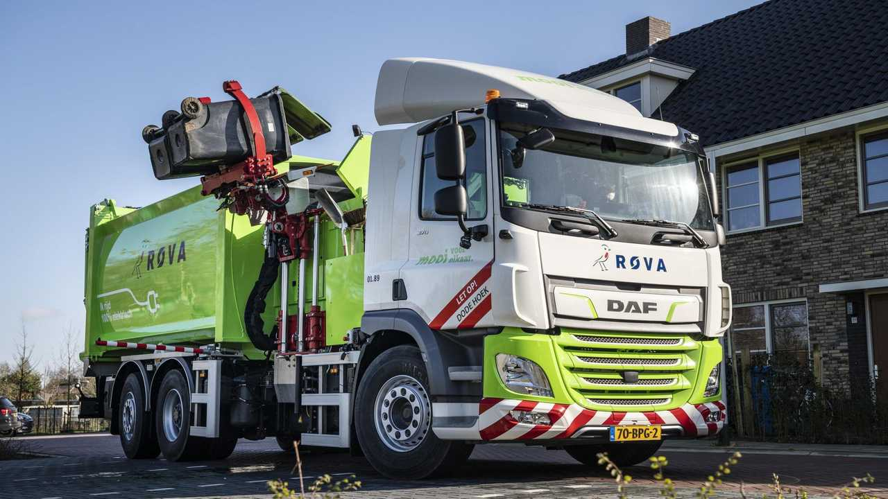 DAF CF Electric refuse collection truck