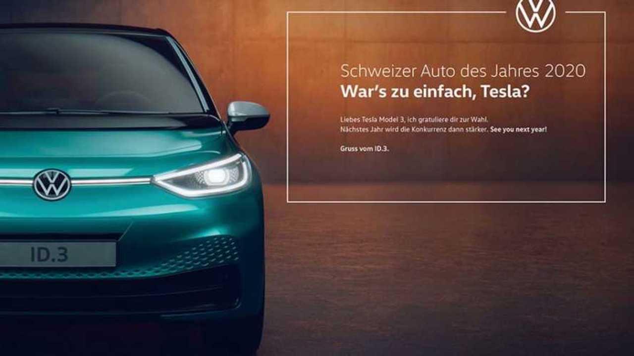 Tesla göndermeli Volkswagen ID.3 reklamı