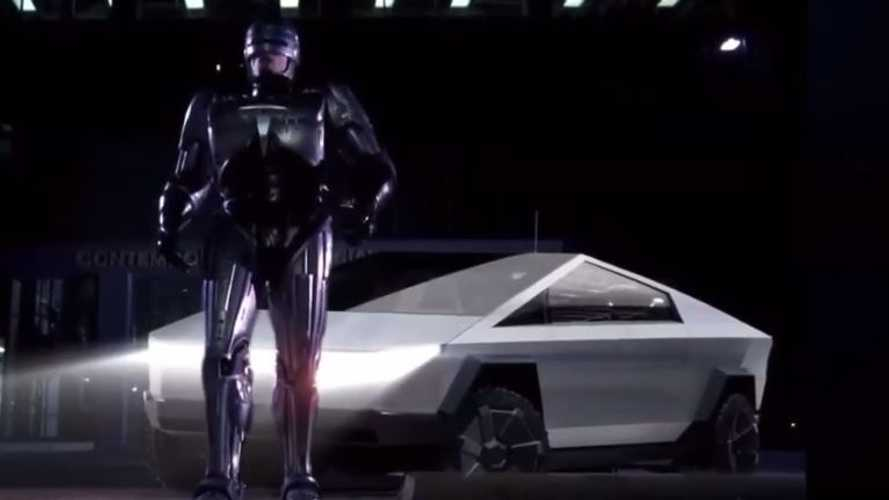 Tesla Cybertruck Makes Big Screen Debut In Mock Robocop Trailer