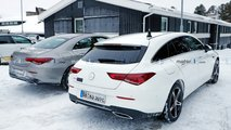 Mercedes-Benz CLA PHEV spy photos