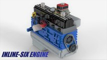 Lego Ideas Jeep Inline-Six Engine