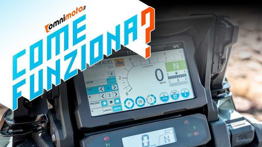 Honda Africa Twin 2020, come funziona il display multi-informazioni