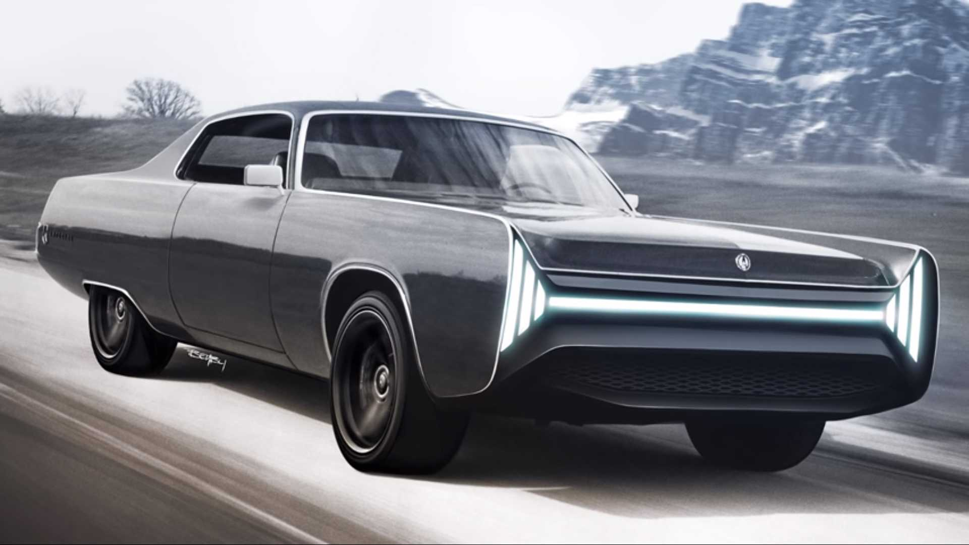 1972 Chrysler Imperial Redesign Is Befitting Of A Sith Lord